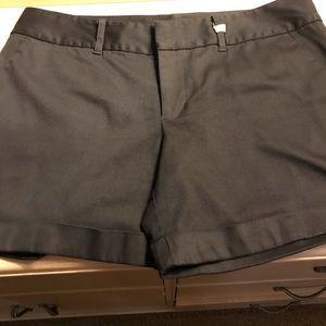 Inc black cuffed shorts